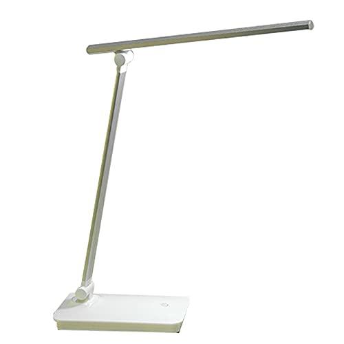 WYMD Lámpara de Escritorio LED Multifuncional, lámpara de Oficina, portátil y Ajustable, protección de Ojos Azules, Adecuada para Oficina, Estudio y Trabajo,Plata