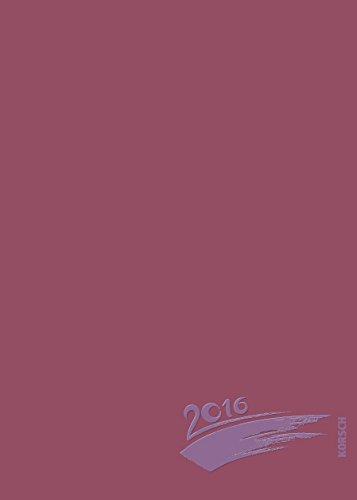 Foto-Malen-Basteln A5 bordeaux mit Folienprägung 2016: Kalender zum Selbstgestalten