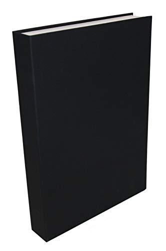 Zwart decoratief boek holle lege doos brievenbus cadeaubox geldbox, 31 cm x 22,3 cm x 4,3 cm