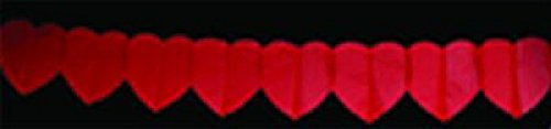 Cotillon d'alsace - Guirlande coeur rouge 6 mètres