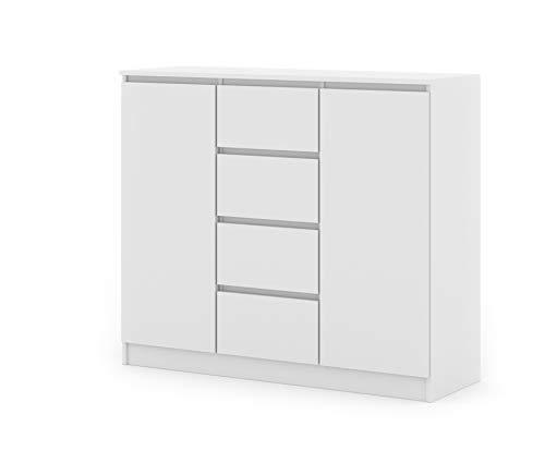 BIM Furniture Kommode Maya 120 cm 2D4S mit 4 Schubladen Sideboard Highboard Cabitet Mehrzweckschrank