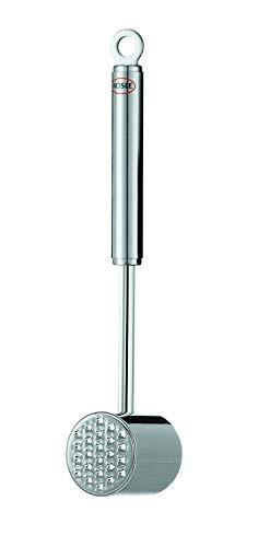 RÖSLE Fleischhammer, hochwertiger Hammer zum Klopfen von Fleisch, Edelstahl 18/10, hochglänzend/matt, Spülmaschinengeeignet