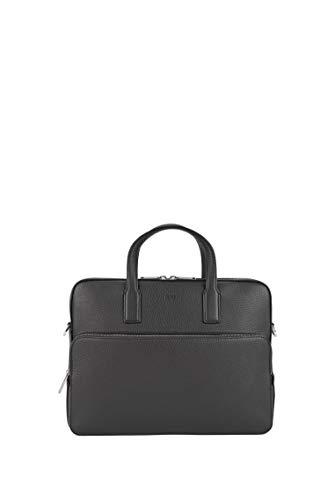 BOSS Herren Crosstown S doc case Aktentasche aus genarbtem italienischem Leder Größe One Size