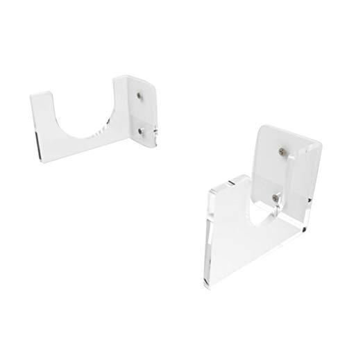 WanMei Juego de 2 estantes transparentes para montaje en...
