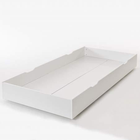 Alfred & Compagnie Tiroir blanc pour lit Oskar 200cm chêne ou MDF blanc H16cm