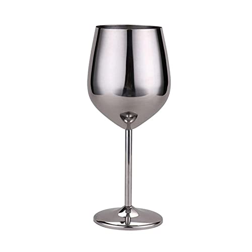 HTRTH 3 PCS 500ml Copa de Vino Tinto de Plata Rosa de Oro Copulas de Oro Drink Champagne Goblet Party Barware Herramientas de Cocina 304 Acero Inoxidable 715 (Color : Silver)