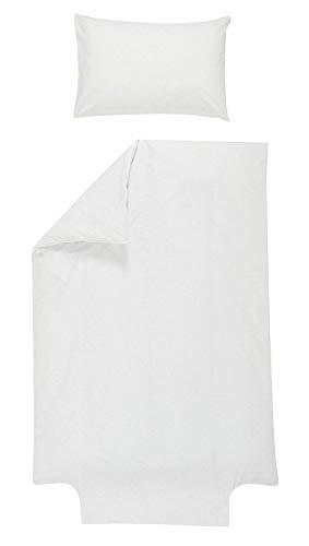 Die Kammer Baby- - Bettwäsche Bettbezug 100x140 cm + Kissenbezug 40x60 cm - 100% Baumwolle 57 Son Of Premium - Leicht Border mit Klappe - Verschiedene Farben und Bedruckte Vorhanden