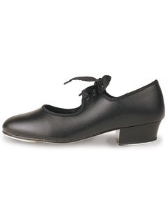 Roch Valley Low Heel PU Tap Shoes 1 Black