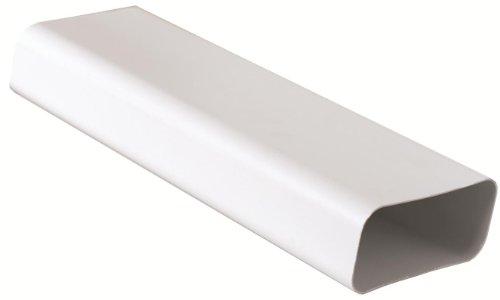 Tubo 150x70 mm lunghezza 1,5 ml per Aerazione Canalizzata Cappa Cucina in Pvc Colore Bianco.
