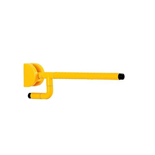 Anti-Rutsch-Griff Barrierefreie Nylon-Klapparmlehnen für ältere Behinderten-WC-Waschtische mit sicherem Griff Sicherheitsbügel (Farbe : Gelb, größe : 580 * 600mm)