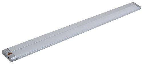 Müller-Licht LED-Unterbauleuchte Olus Sensor für höchster Lichtkomfort in der Küche - wechseln zwischen indirektem (3000 K) oder direktem Licht (4000 K) - dimmbar - 80 cm - silber