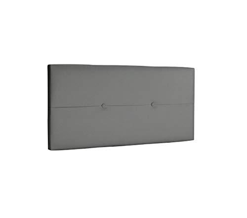 DHOME Cabecero de Polipiel o Tela AQUALINE Pro cabeceros Cabezal tapizado Cama Lujo (Polipiel Gris Ceniza, 110cm (Camas 80/90/105))