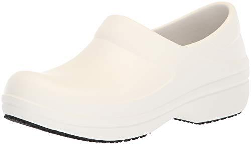 Crocs Neria Pro II Clog, Zuecos para Mujer, Blanco (White 100b), 34/35 EU