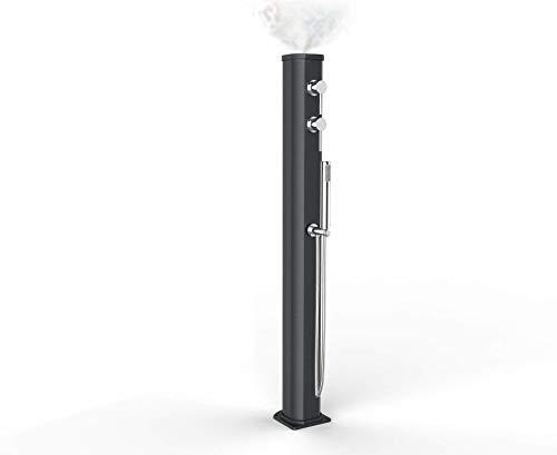 Arkema Jolly Go Douche solaire d'extérieur avec mitigeur et douchette mobile Gris anthracite