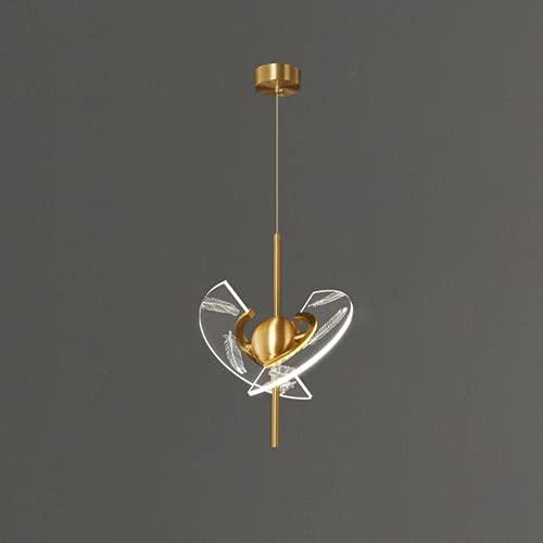NAMFXH Ljus Lyx Kreativa ljuskronor Postmoderna Helkoppar Suspension Ljus Konstnärliga fjädrar Island Haning Ljusarmatur LED-ljuskälla Hängande lampa Restaurang Cafe Belysning