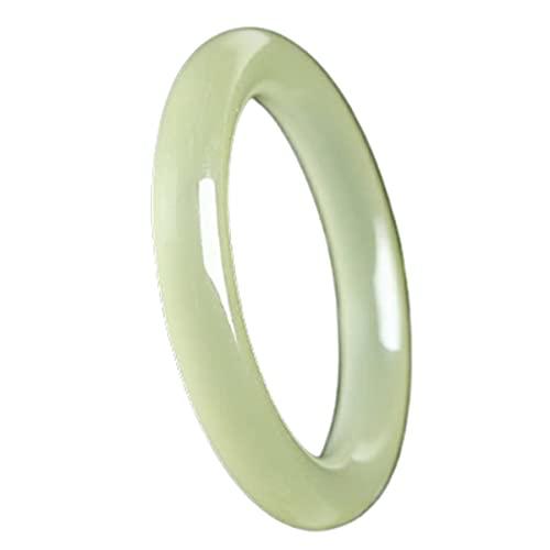 GvvcH Pulsera Brazalete de Jade Natural para Mujeres Niñas Pulseras Clásicas Retro Jade Estilo Chino, 56mm / 2.20inch