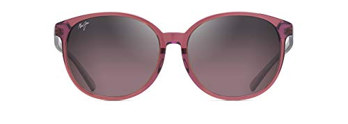 Maui Jim Gafas de sol para mujer con ajuste asiático, rosa (Rosa con interior lila/Maui Rose Polarizado), Medium