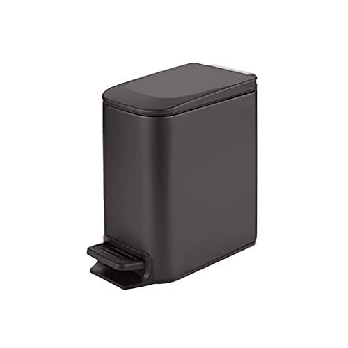 ZANZAN Bomba de jabón Bote de Basura de Metal Rectangular de Acero Inoxidable con Cubos Interior Bandeja de Basura para el hogar, Oficina, Cocina 6l / 1.5 galón Dispensadores de Ducha