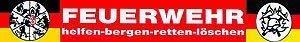 (307785) PST-Schild mit Saugnäpfen - FEUERWEHR helfen-bergen-retten-löschen - Gr. ca. 40 x 6cm
