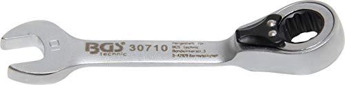 BGS 30710 | Clé mixte à cliquet | courte | réversible | 10 mm