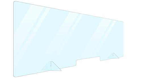 Portable Plexiglass Sneeze Guard Shield for Counter Cashier Protection 60x24