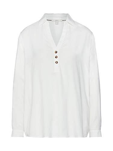 ESPRIT Damen 129Ee1F003 Bluse, Weiß (Off White 110), (Herstellergröße: 38)