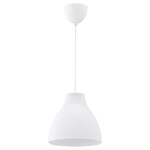 Ikea Melodi, lámpara de techo, blanco, 28 cm, ref 603.865.2