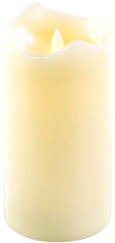 Britesta Batteriekerzen: Echtwachskerze mit beweglicher LED-Flamme, 90 x 180 mm, Gr. L (LED-Kerzen Flackerdocht)