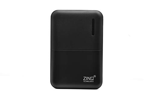 Zinq 5000mAh Li-Polymer Power Bank with 12W Fast Charge, Dual Output Z5KP (Black)