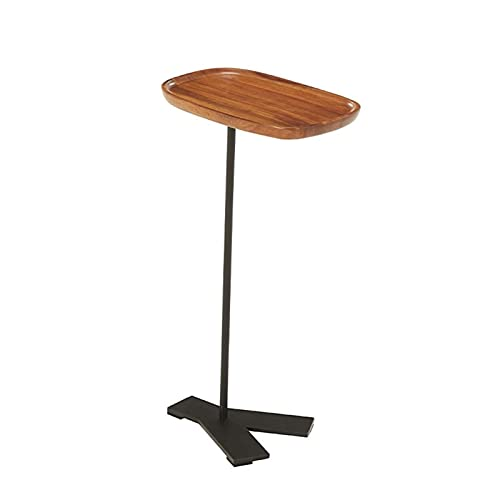 YAOLUU Diseño Moderno y Sencillo Mesa Auxiliar pequeña, Mesa de café con Estilo y Creativo Mesa de café Sala de Estar balcón Mesa de té nórdico Mesa Mini Mesa de té Nuez Color Fácil de Montar