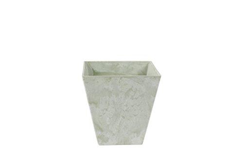 Artstone Pflanzgefäß, Pflanzkübel Ella, frostbeständig und leichtgewichtig, eukalyptus, 20x20x20 cm, 135656