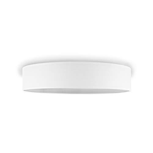 Smartwares IDE-60043 Deckenleuchte/ Textilschirm, 50 cm Ø, 4 x E27, Weiß