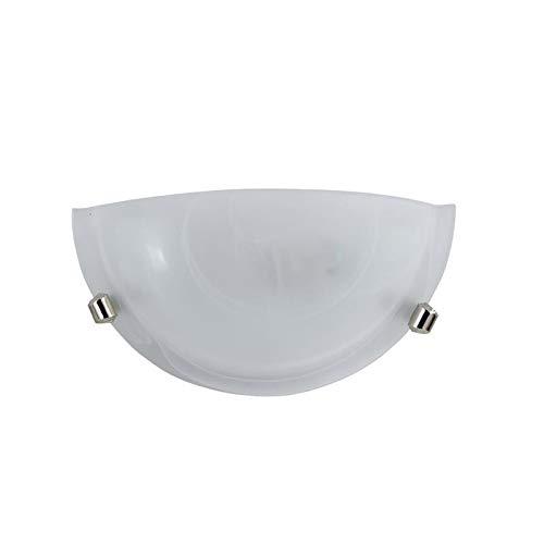 E-ENERGY Duna Lampada Applique da Parete in Vetro Moderna Mezzaluna Attacco E27 1 Luce Bianca Made in Italy