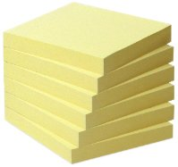 Post-it Recycling Notes 6541B – Selbstklebende Haftnotizzettel aus Recycling Papier in 76 x 76 mm – 6 Notizblöcke à 100 Blatt in Gelb