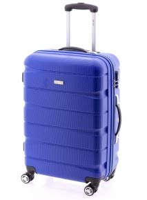 Doulbe2 de JohnTravel, Maleta Mediana 60 cm, ABS (Azul)