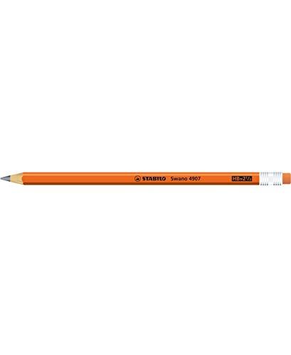 STABILO swano fluo matita in grafite con gommino Arancione - Confezione da 12