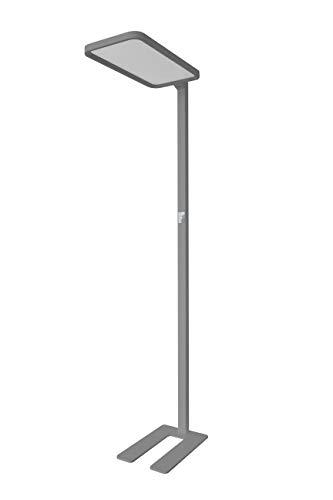 LED Office Line - Lámpara de pie (intensidad regulable), color gris