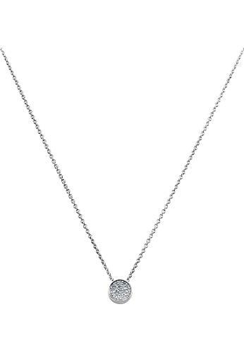 JETTE Silver Damen-Kette 925er Silber 19 Zirkonia One Size 86508621
