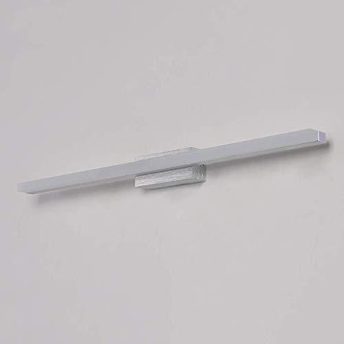 Moderne minimalistische led-spiegelkoplamp, badkamerwandlamp, vlakke spiegellamp, waterdicht, anti-condens-spiegellamp (lengte: 50 60 80 100 cm). (Kleur: warm licht, grootte: 100cm)