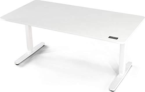 Yaasa Desk Pro II Elektrisch Höhenverstellbarer Schreibtisch, Memory-Funktion, Kollisionssensor und Tastensperre, Off-White 160 x 80 cm