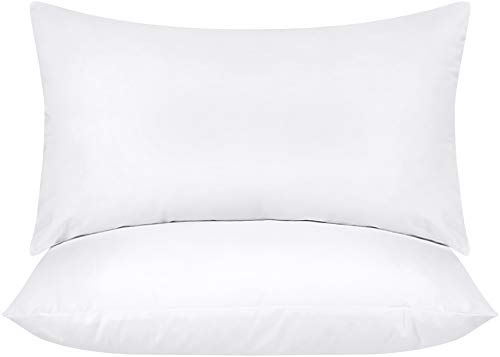 Utopia Bedding Throw Pillows Insert (Pack of 2, White) - 12 x 20 Inches Bed and Couch Pillows - Indoor Decorative Pillows