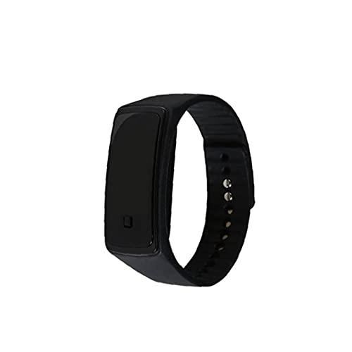 Murezima Unisex Watch Led Digital Reloj con Brazalete De Silicona Reloj De Pulsera Deportiva a Prueba De Agua para Niños Chicas Pulsera Reloj Negro (batería Incluida) Reloj De Silicona Led