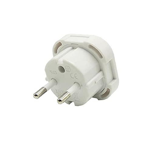 Travel Blanco Reino Unido al adaptador de enchufe de la UE Convertidor de cargador de alimentación CA de CA 1pcs