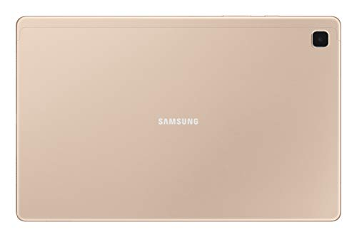 Samsung Galaxy Tab A7 26.31 cm (10.4 inch), Slim Metal Body, Quad Speakers with Dolby Atmos, RAM 3 GB, ROM 32 GB Expandable, Wi-Fi-only, Gold