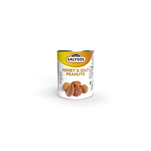 Cacahuetes con Miel 10x50gr. Aperitivos de cacahuetes con miel y sal envasados al vacío. Snacks fritos originales crujientes y sabrosos.