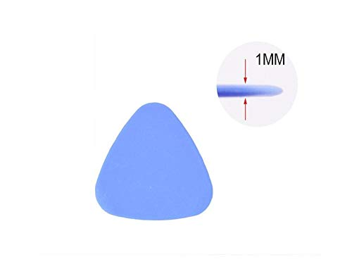 25 Piece Universal Triangle Plastic Pry Opening Tool for iPhone Mobile Phone Laptop Tablet LCD Screen Case Disassembly Blue Guitar Picks by Deal Maniac