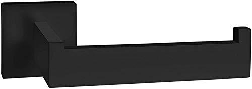 Yuet, porta rotolo di carta igienica nero in acciaio inox con viti da parete per accessori da bagno e cucina, in acciaio inox 304 (nero opaco)