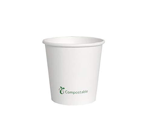 Ecorigin Vasos Desechables de cartón, Biodegradables y Compostables. Vasos de cartón con Laminado PLA. Pack de 200 Unidades 4oz/120 ml.