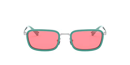 Vogue Millie Bobby Brown X Eyewear Collection Lentes oscuros, Plateado/Rosado, 57 para Mujer