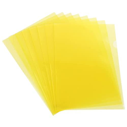 Cartelline A4 Trasparenti a L Formato, confezione da 30, 180 micron, Cartelle di File Documenti A4 in Polipropilene per Scuola, ufficio, A4 Copertina per Fogli di Protezione -Giallo
